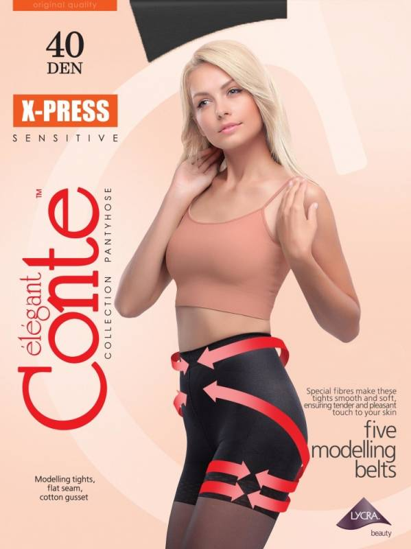 Conte X-Press 40 den sukkahousut musta