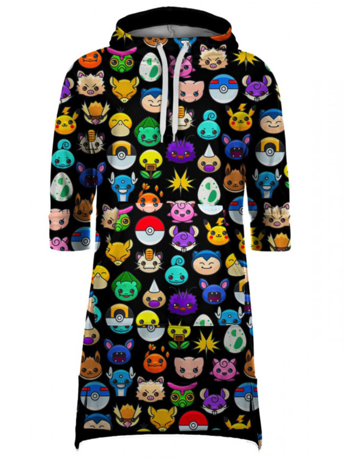 Mr Gugu Pokemoji Hoodie Dress