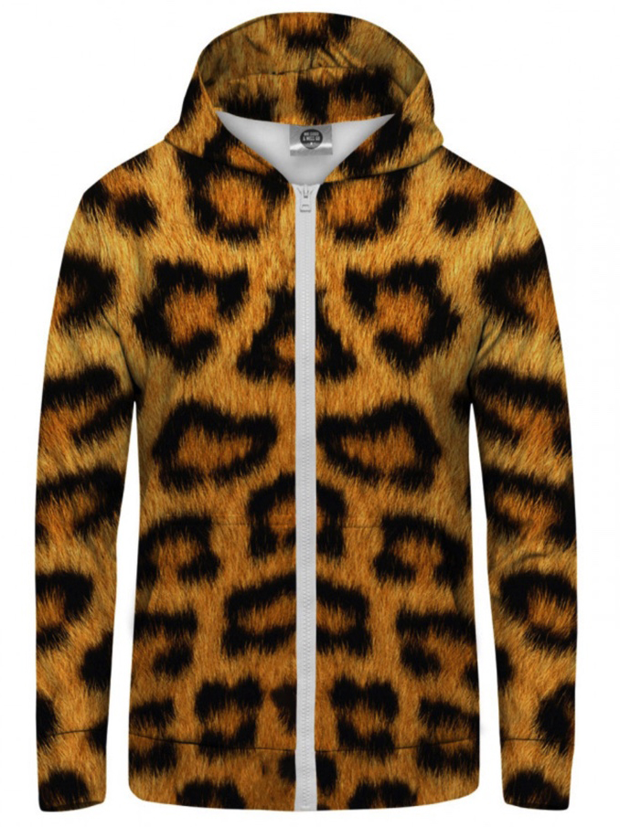 Mr Gugu Leopard Spots zip-up hoodie