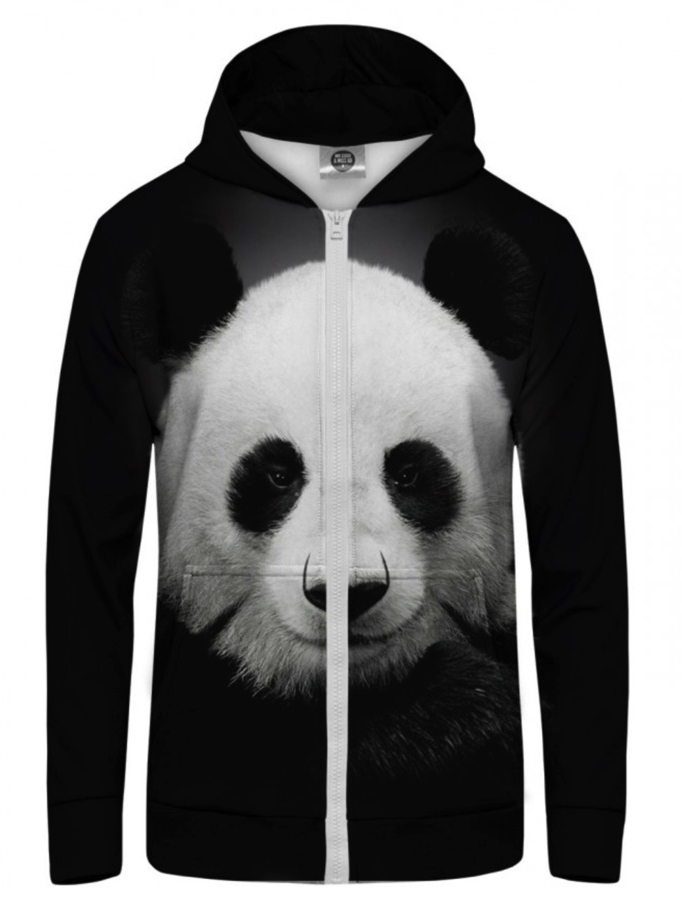 Mr Gugu Panda zip-up hoodie
