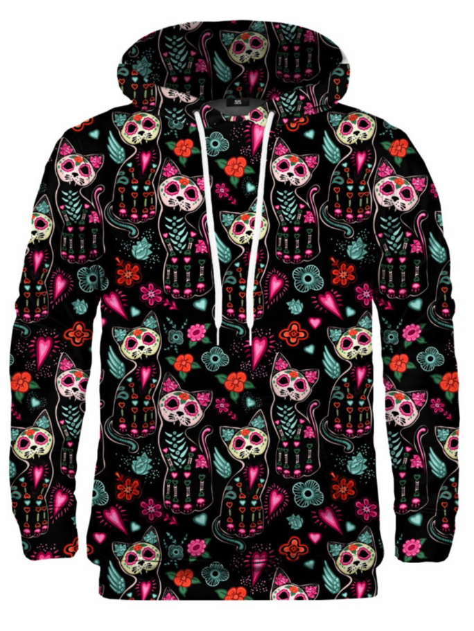 Mr Gugu Cat Skeleton hoodie