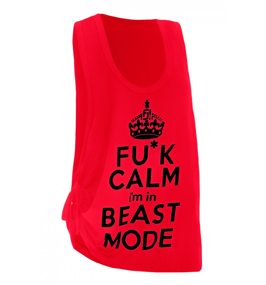 Feel Joy Beast tank top punainen